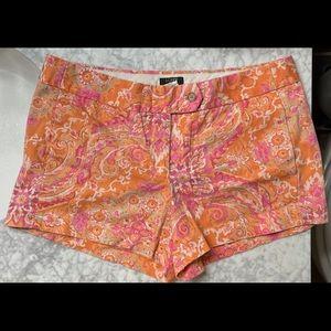 J. Crew Orange Paisley Shorts